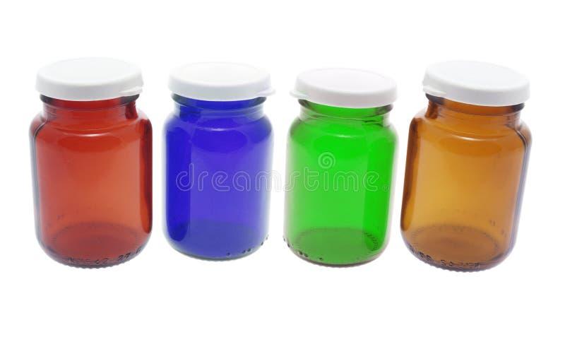 Frascos do comprimido foto de stock