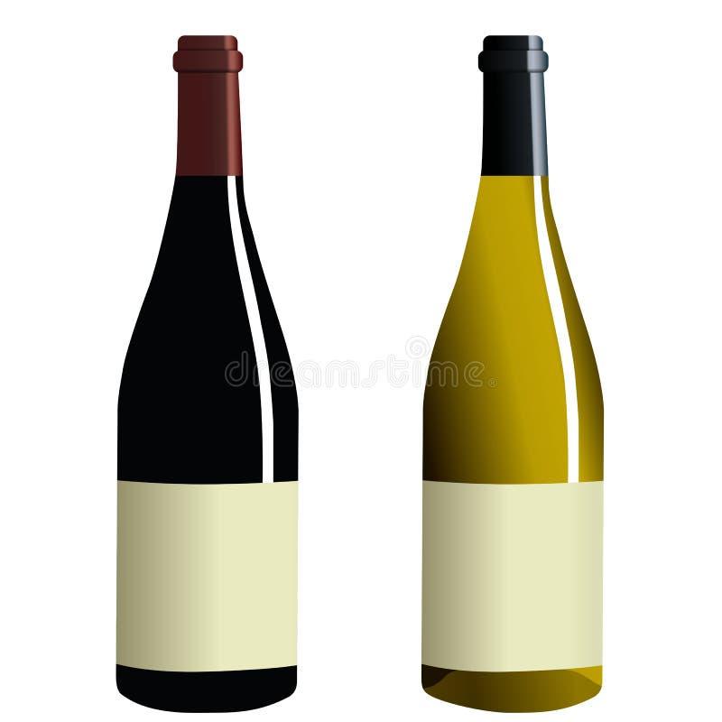 Frascos do vinho ilustração royalty free