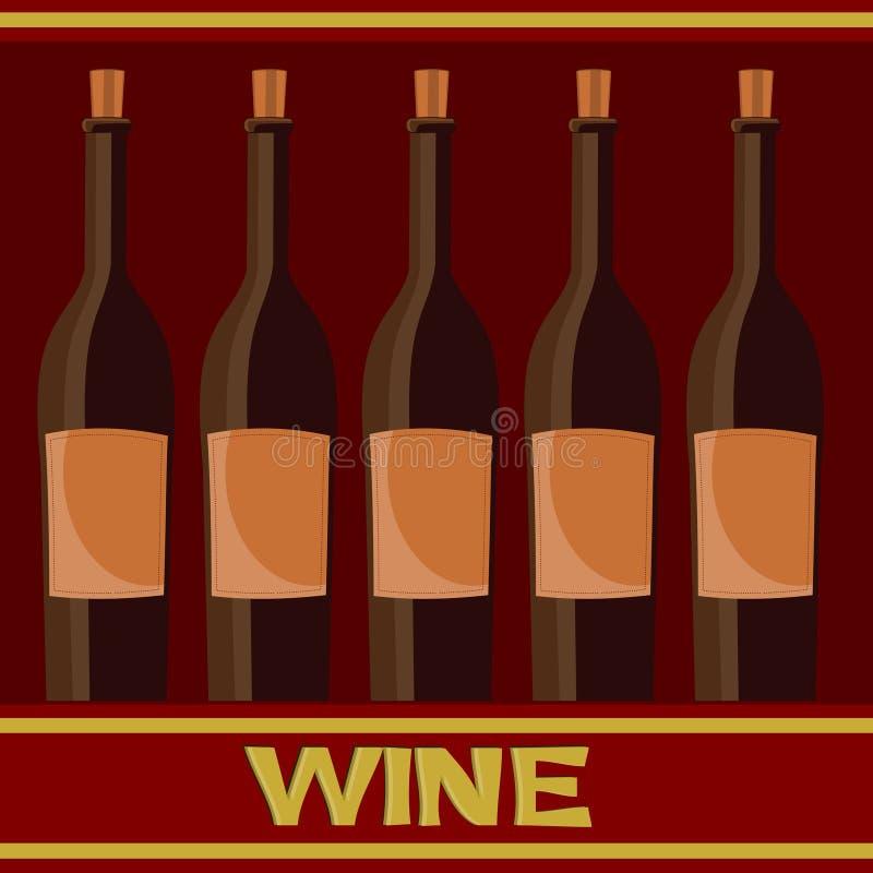Frascos do vinho ilustração do vetor