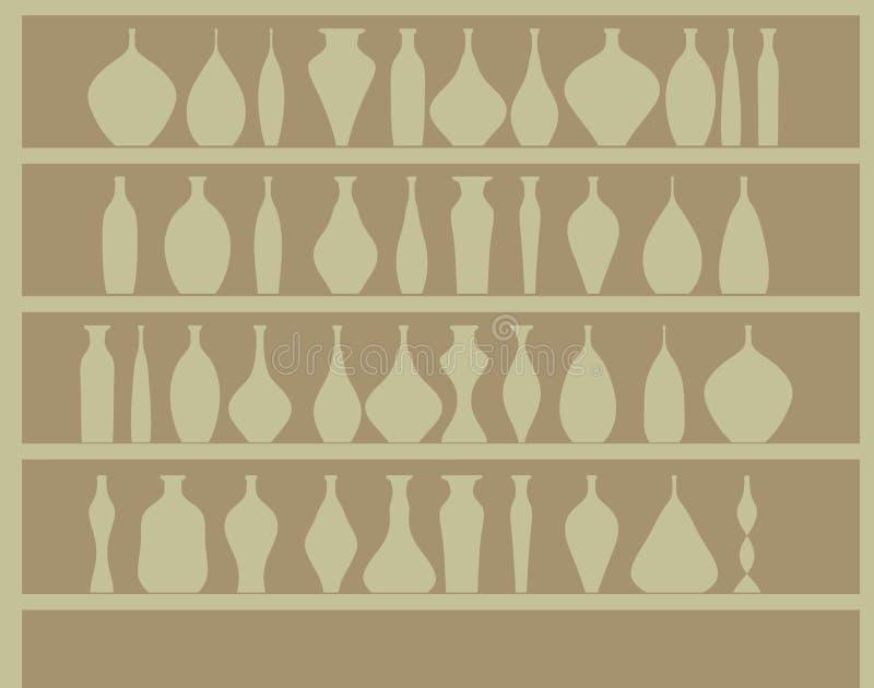 Frascos na adega de vinho ilustração royalty free