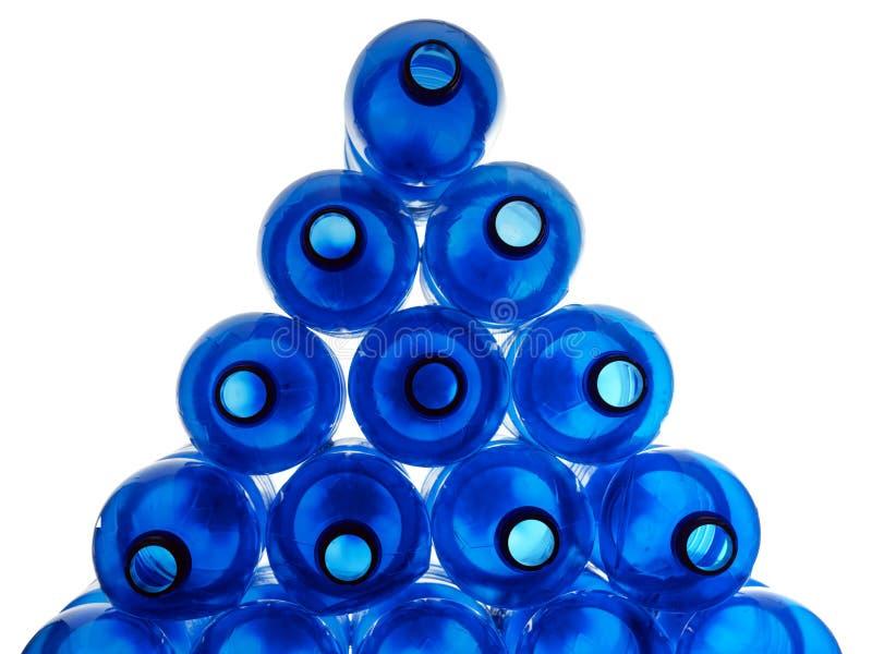 Frascos plásticos azuis imagens de stock royalty free