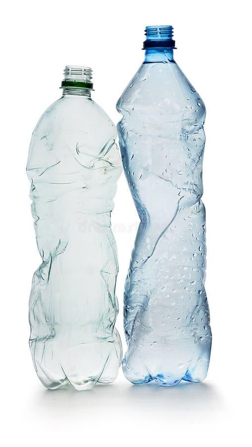 Frascos plásticos simples foto de stock