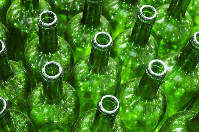 Frascos verdes foto de stock