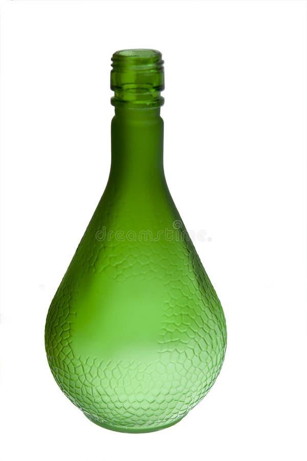 Frascos verdes de bebidas alcoólicas imagem de stock