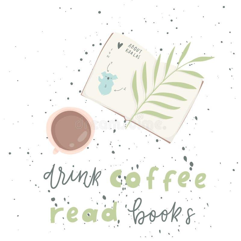 frase Aficionado a los libros E libre illustration