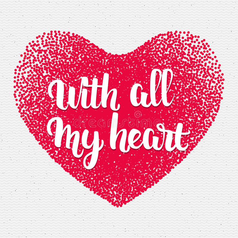 Frase Con Todo Mi Corazón Handletterig Escrito