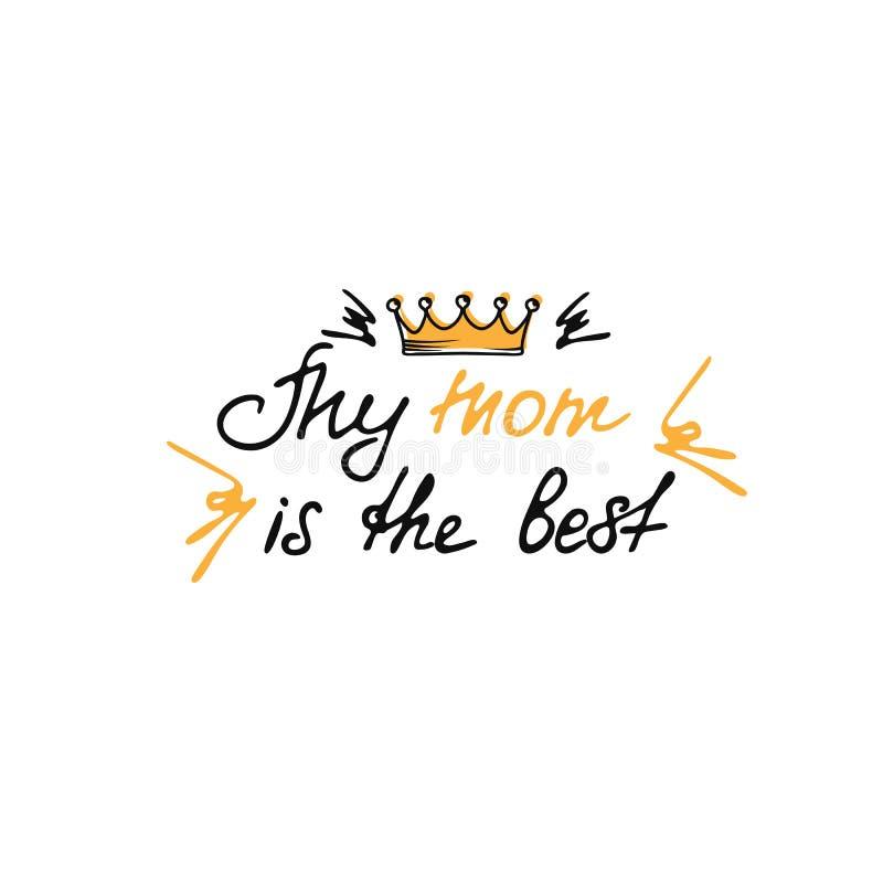 Frase d'iscrizione disegnata a mano per la festa della Mamma nello stile di scarabocchio Usato per la cartolina d'auguri, progett illustrazione di stock