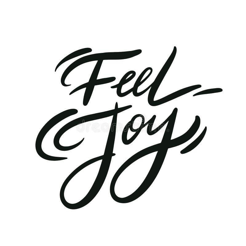 Frase da alegria da sensação Rotula??o tirada m?o das cita??es do vetor Tipografia inspirador Isolado no fundo branco ilustração do vetor
