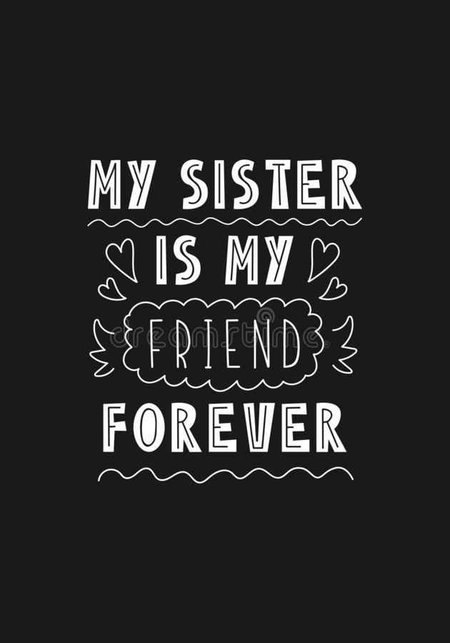 Frase Da Rotulação Minha Irmã é Meu Amigo Para Sempre