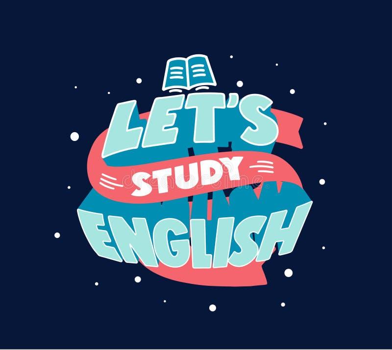 Frase de aprendizaje en inglés Afiche creativo, pancarta web stock de ilustración