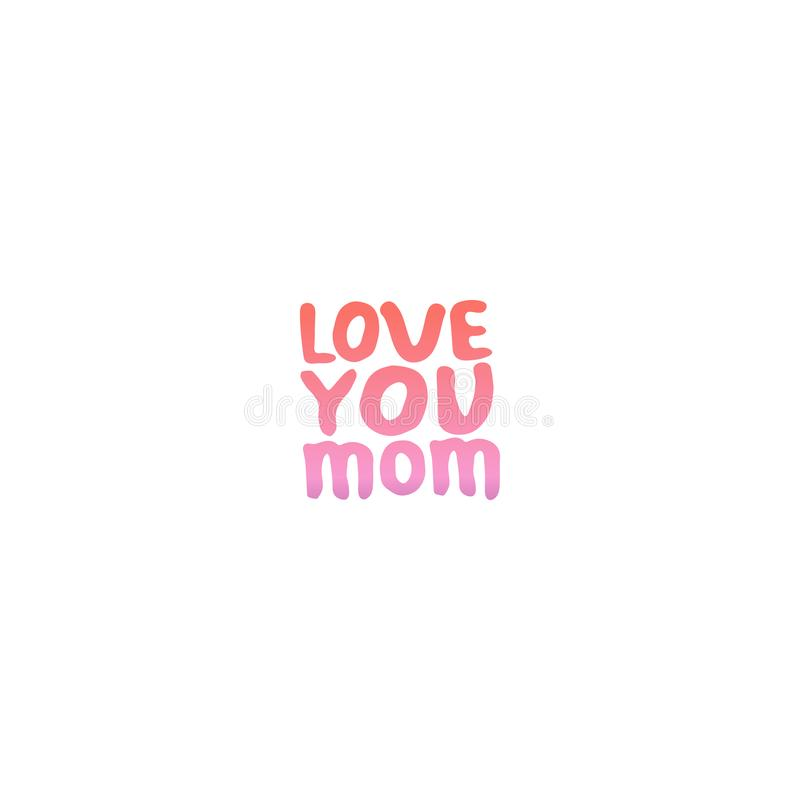 Frase de las letras de la mano del día de madres Ámele mamá libre illustration