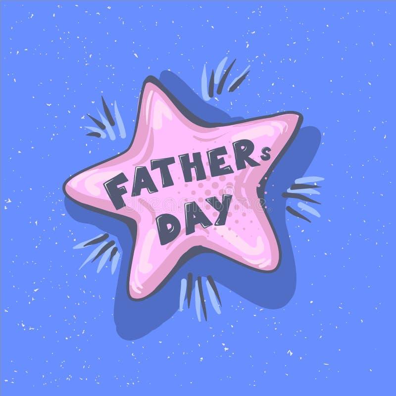 Frase del día de padres Burbuja feliz del discurso del saludo de la caligrafía de las letras del vector del día del padre s Ejemp libre illustration