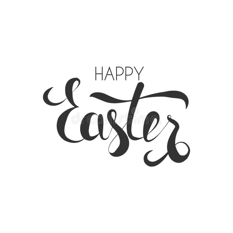 Frase di Pasqua di calligrafia immagine stock