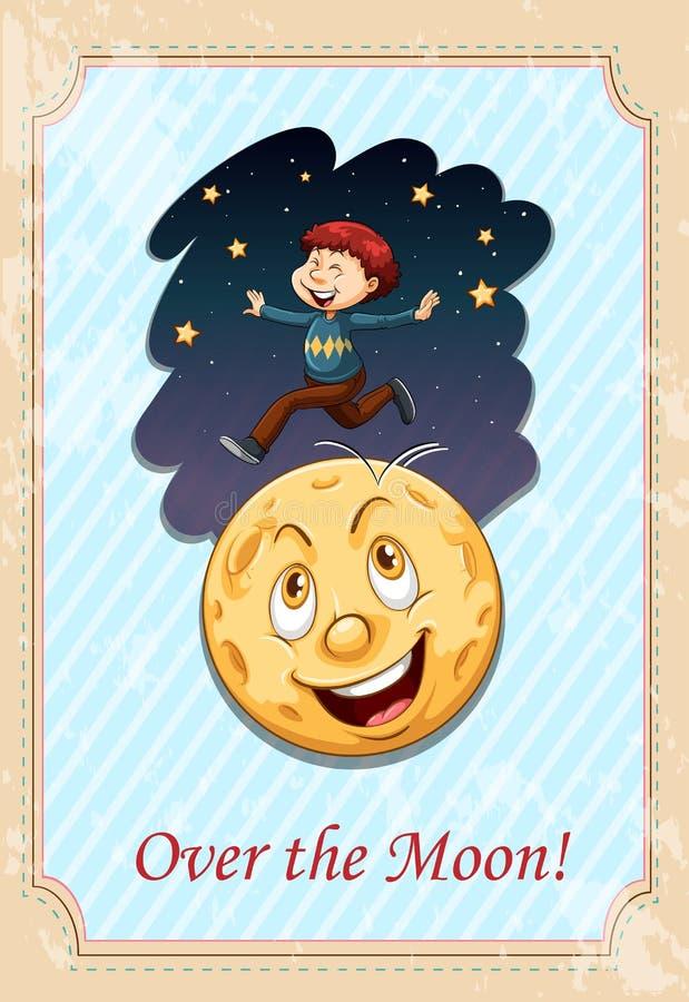 Frase hecha sobre la luna ilustración del vector