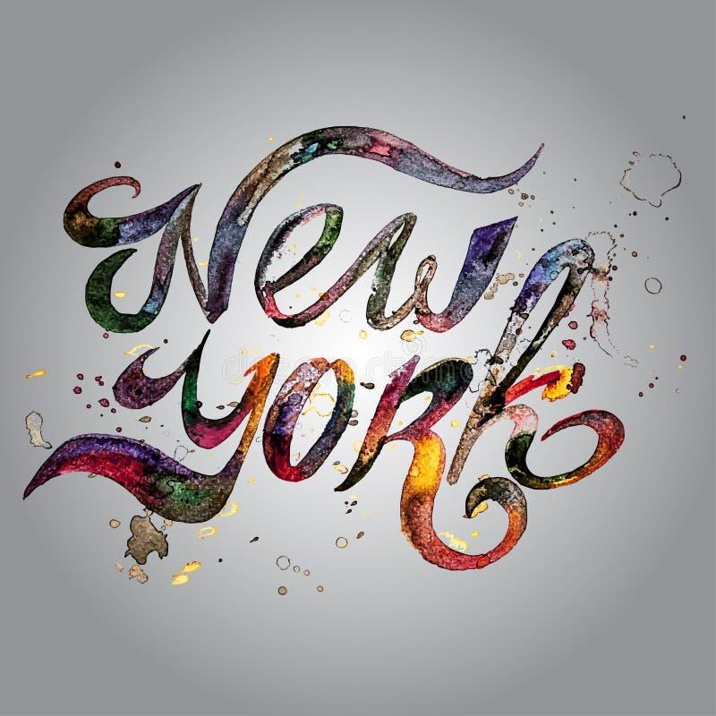Frase manuscrita conceptual New York City en a libre illustration