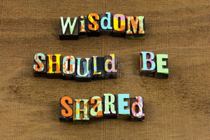 Frase sábia da ajuda da educação da história do conhecimento da sabedoria da parte imagens de stock