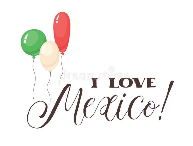 Fraseio de Viva México ilustração do vetor