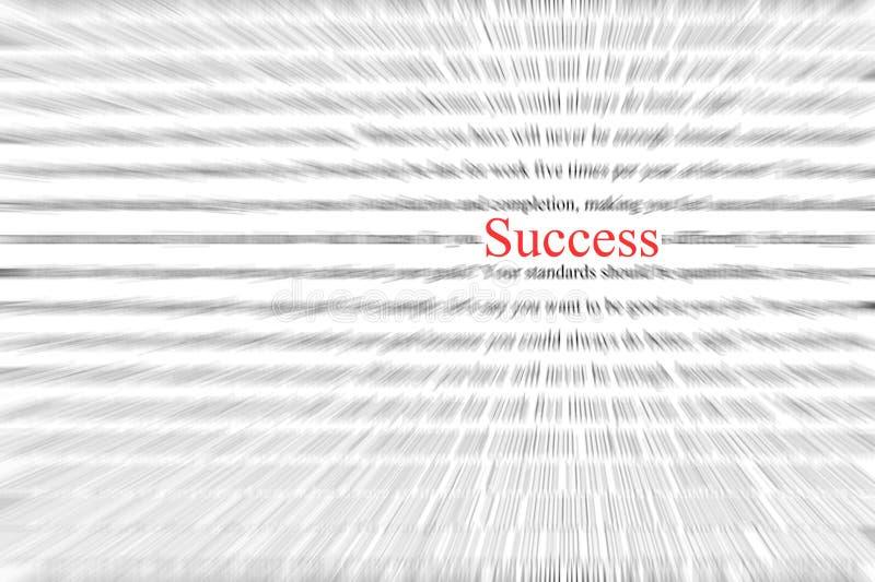 Fraseología del éxito imagenes de archivo