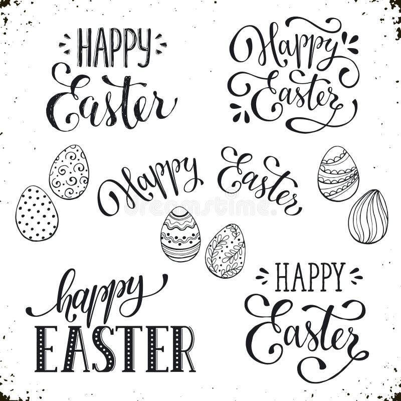 Fraseología feliz de Pascua ilustración del vector