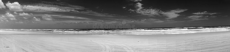 Fraser Island Eastern Beach Panorama royalty free stock photography