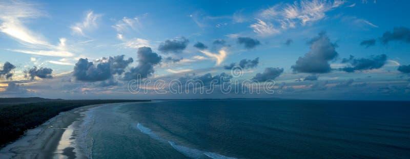 Fraser Island Sunset royaltyfri fotografi