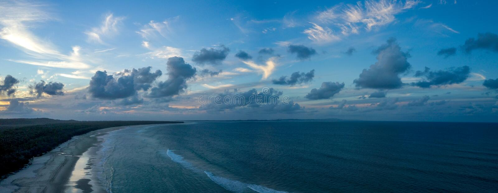 Fraser Island Sunset royalty free stock photography