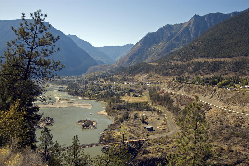 Fraser River. Canyon and Lillooet stock photography