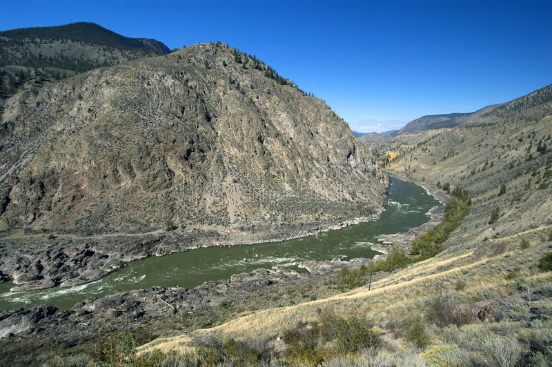 Fraser River. Canyon and Lillooet stock photos