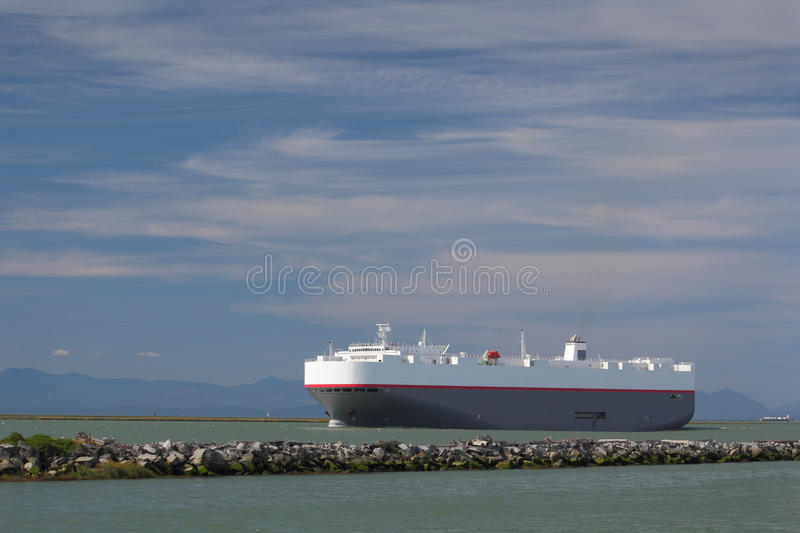Fraser River Freighter royalty free stock photos