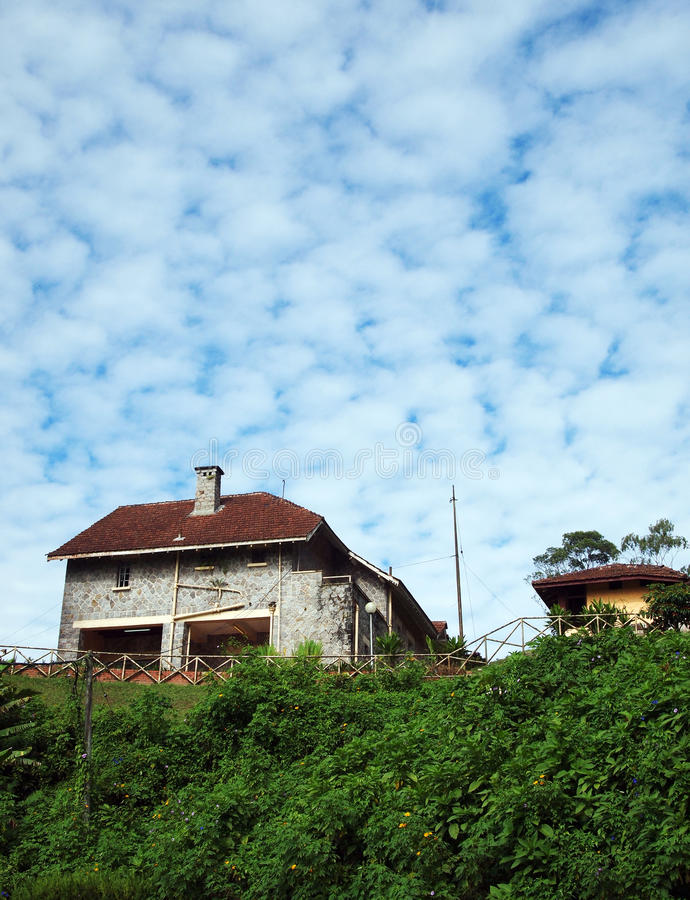 Frasers Hill scenic house, Malaysia stock photo