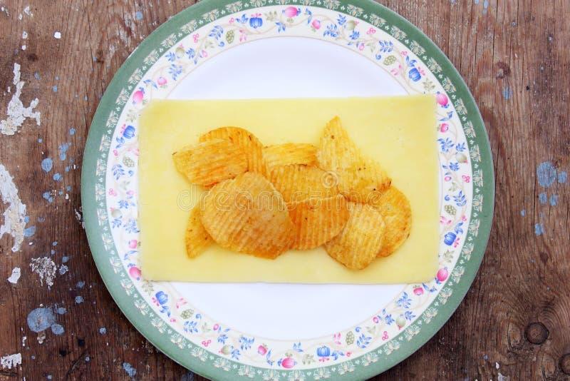 Frasiga potatischiper royaltyfri fotografi