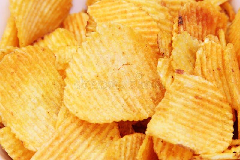 Frasiga potatischiper arkivbild