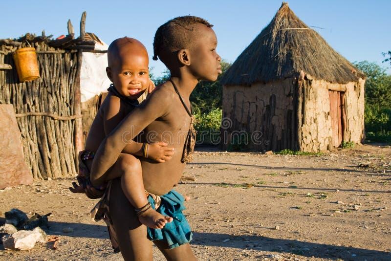 Fratelli dalla tribù di Himba fotografie stock libere da diritti