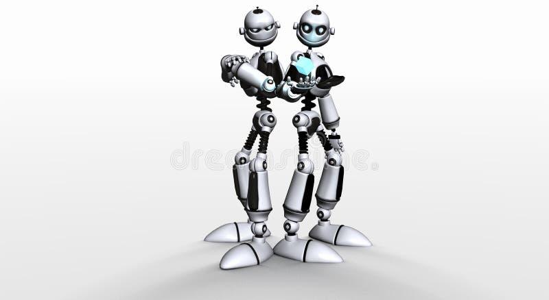 Fratelli del robot illustrazione di stock