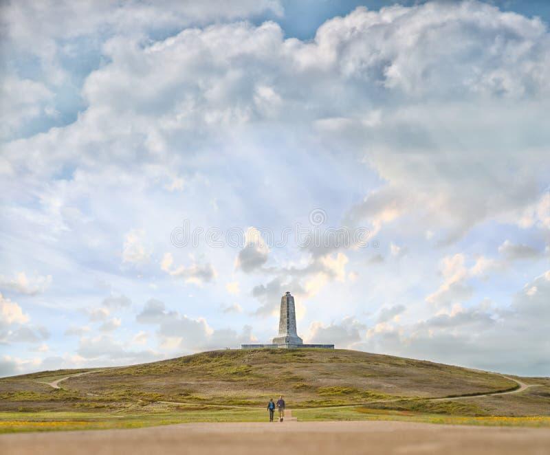 Fratelli di Wright commemorativi in Nord Carolina fotografia stock libera da diritti