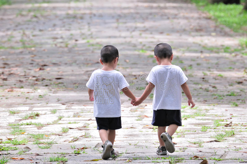Fratelli gemelli fotografia stock