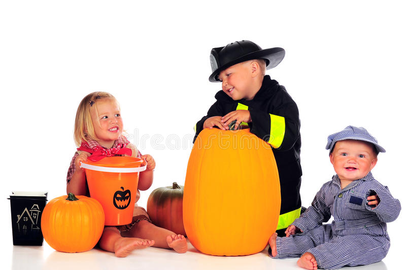 Fratelli germani di Halloween fotografia stock