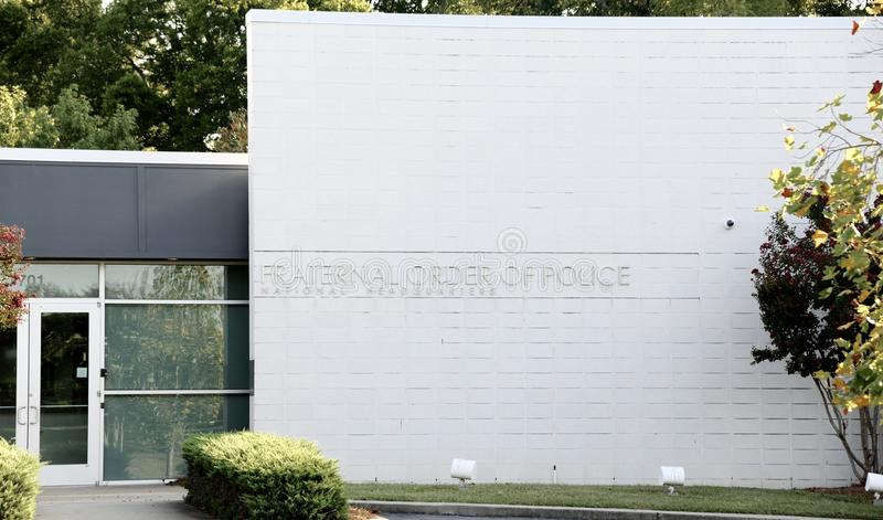 Fraternal Order of Police Building. Fraternal Order of Police National Headquarters Building, Nashville TN stock images