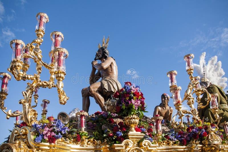 Fraternidad de la estrella, semana santa en Sevilla fotografía de archivo libre de regalías