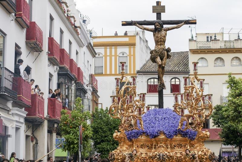 Fraternidad de la semana santa de YE en Sevilla fotos de archivo libres de regalías