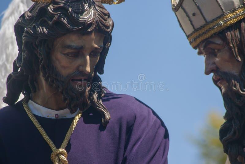 Fraternidades penitenciales de Sevilla San Gonzalo foto de archivo