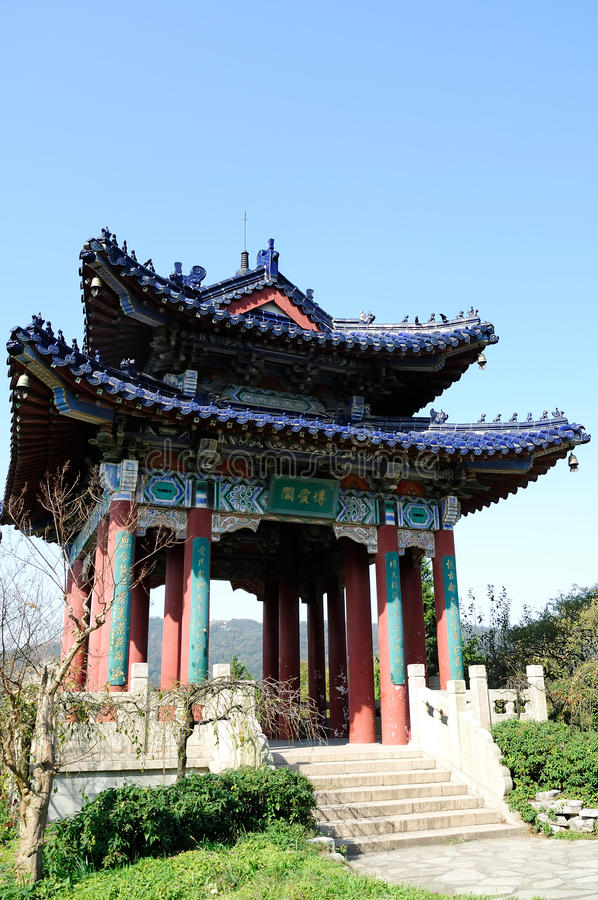 Fraternity Pavilion. In Meihua Mountain stock image