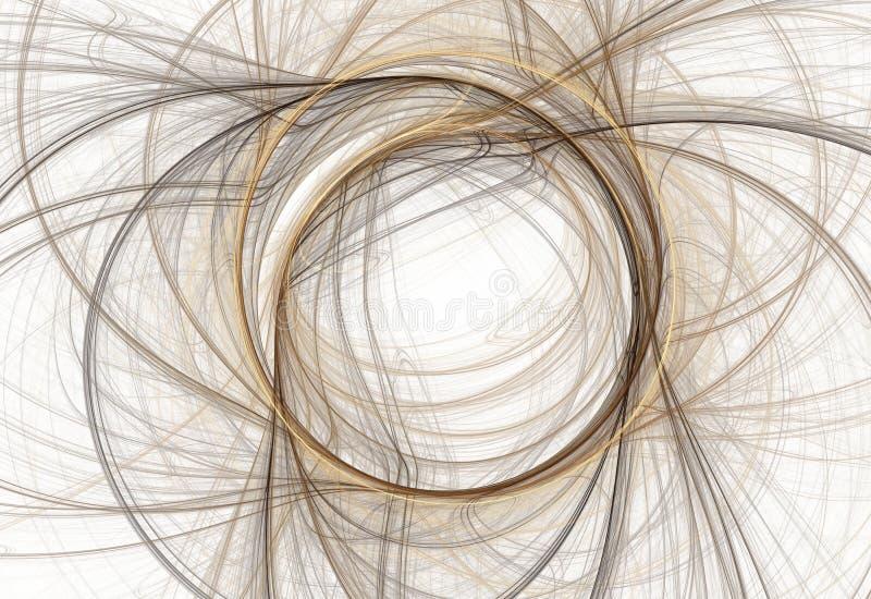 Frattale astratto geometrico illustrazione di stock