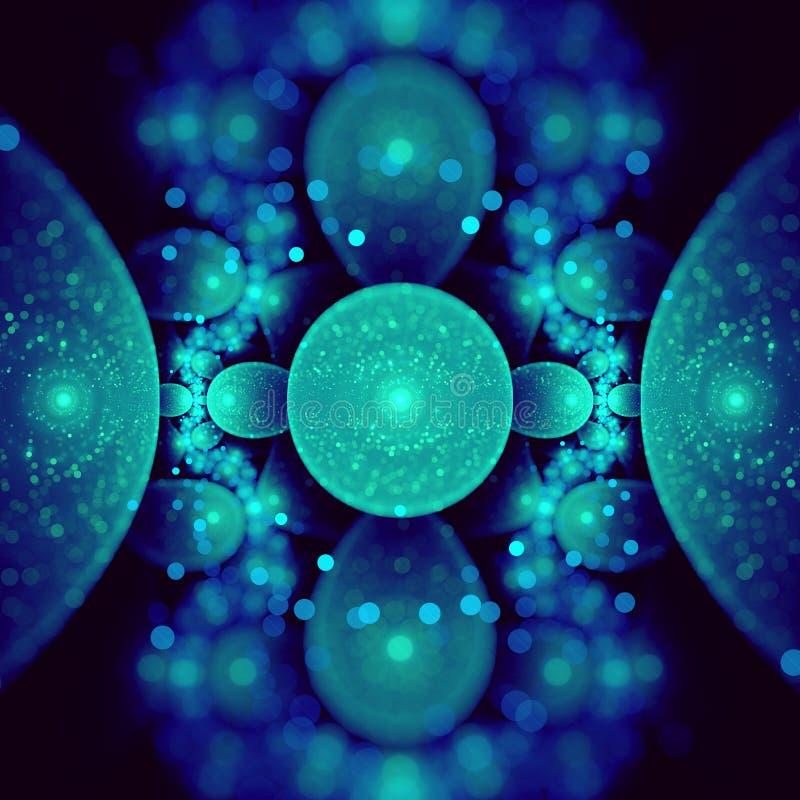 Frattale atomico illustrazione vettoriale