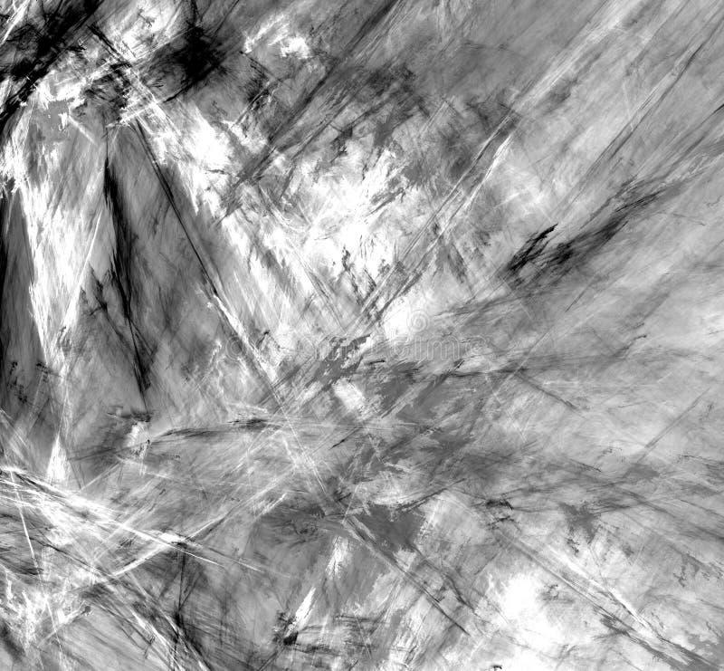 Frattale in bianco e nero astratto su fondo bianco Struttura di frattale di fantasia Rotazione rosso-cupo di Digitahi art rappres illustrazione di stock
