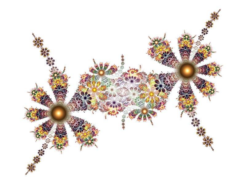 Frattale - fantasia del fiore illustrazione vettoriale
