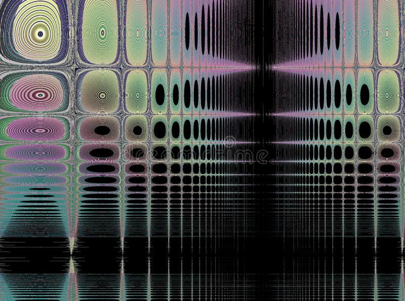 Frattale: Impronte digitali in una tappezzeria illustrazione vettoriale