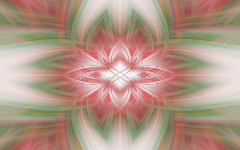 Frattale rosso geometrico del fondo del modello fumo futuristico illustrazione di stock