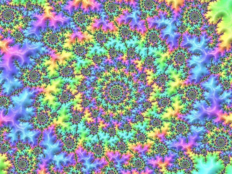 Frattale strutturato di spirale dell'estratto nei colori al neon vibranti, in materiale illustrativo per arte creativa, nella pro royalty illustrazione gratis