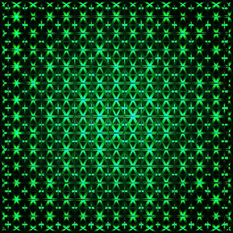 Frattale verde d'ardore astratto 3D illustrazione di stock
